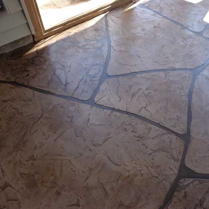 Grand Flagstone Stamped Concrete | Crawford Concrete Coatings
